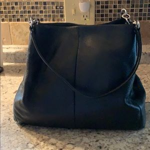 Coach Black pebble leather with Silver Hardware